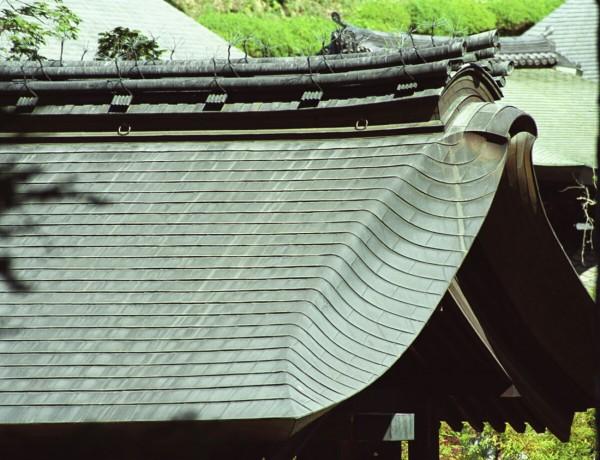 銅板屋根(緑青)