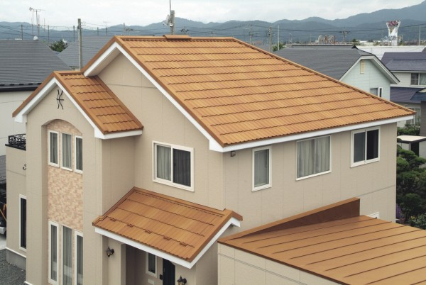 石粒付ガルバリウム鋼板屋根
