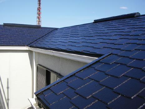 屋根塗装完了(スレート)