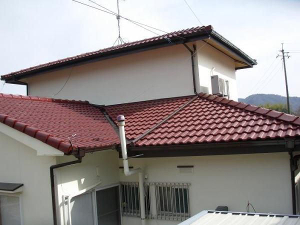 塗装完了後の屋根