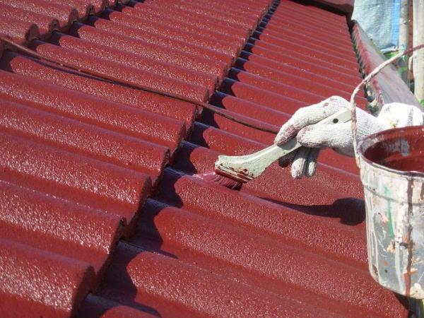 セメント瓦塗装完了
