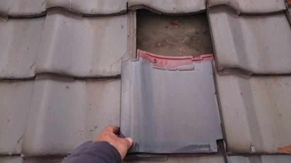 瓦の固定法を確認