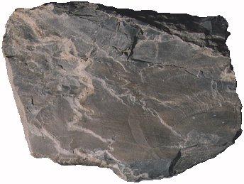 天然スレート原料の粘板岩