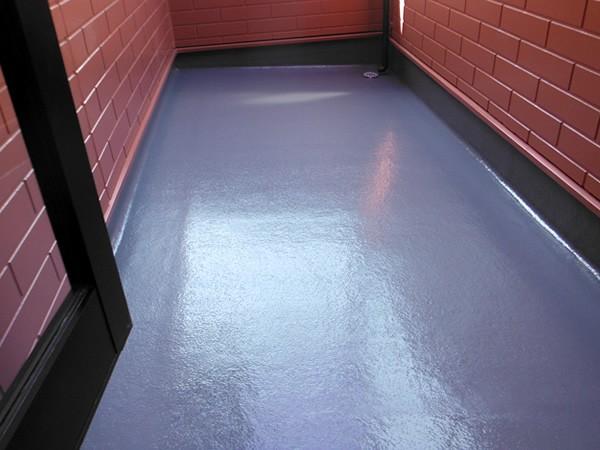 FRP防水工事後の床