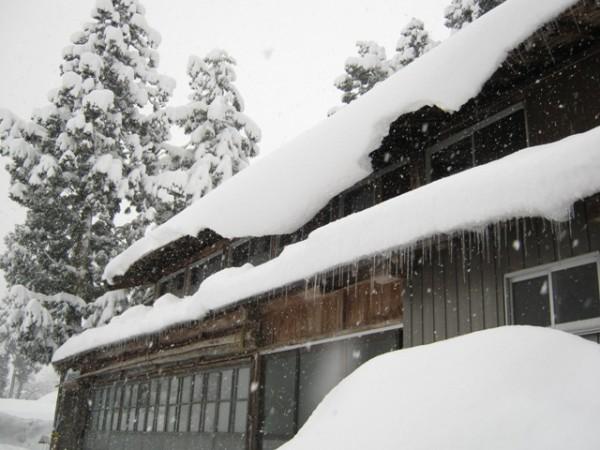 豪雪地方では雪止めは付けない
