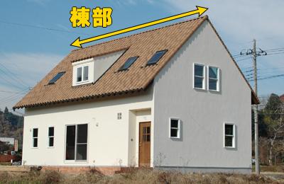 棟部(屋根の頂上部分)