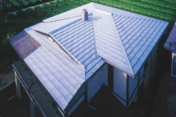 アルミ屋根(スレート型)の施工例