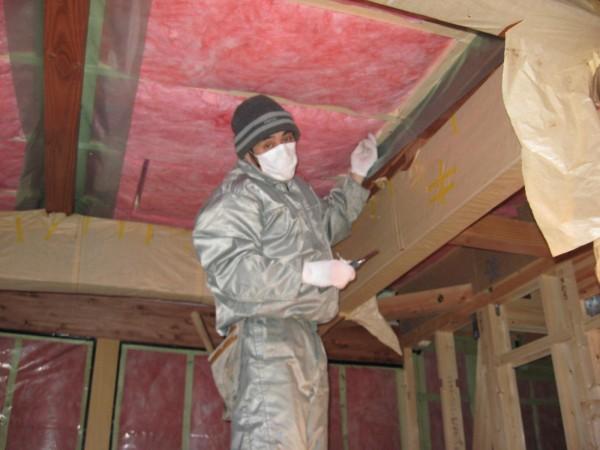 屋根断熱の施工2
