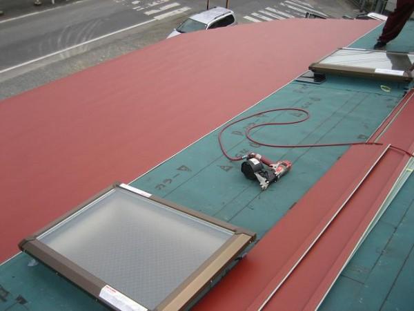 天窓屋根の葺き替え工事