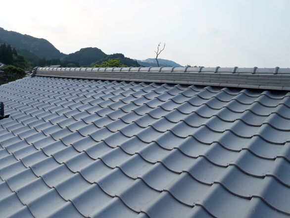 roof of japan tile