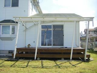 台風被害による屋根の倒き