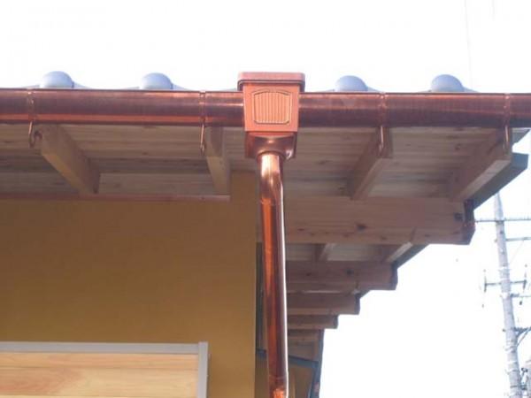 銅製の竪樋