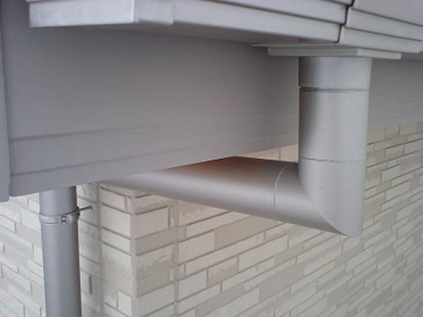 ステンレス製の雨樋