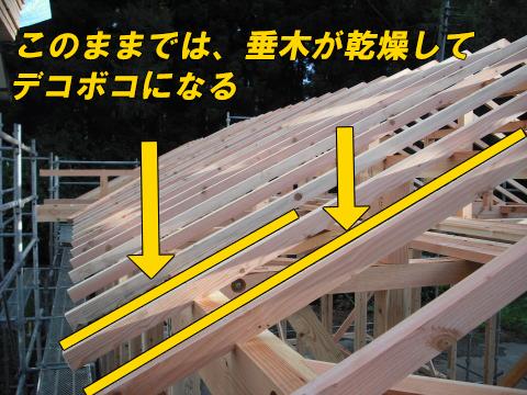 広小舞と垂木の関係