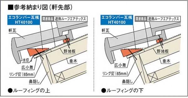 広小舞は、瓦の角度を調整する