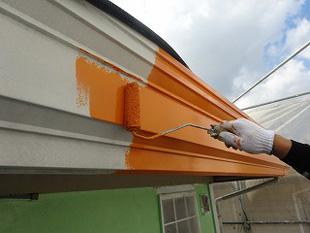 破風板の塗装修理2