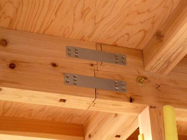 棟木の継手加工