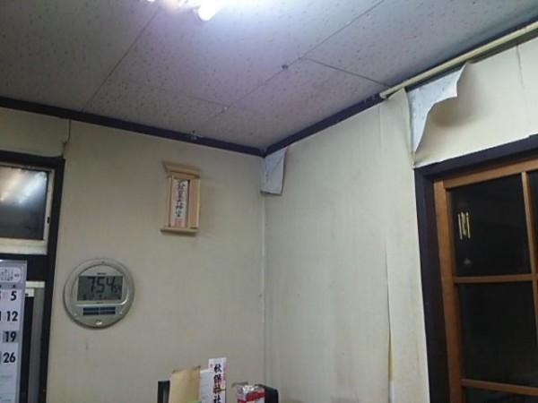 経年劣化:壁紙剥がれ
